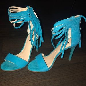 Guess turquoise high heels
